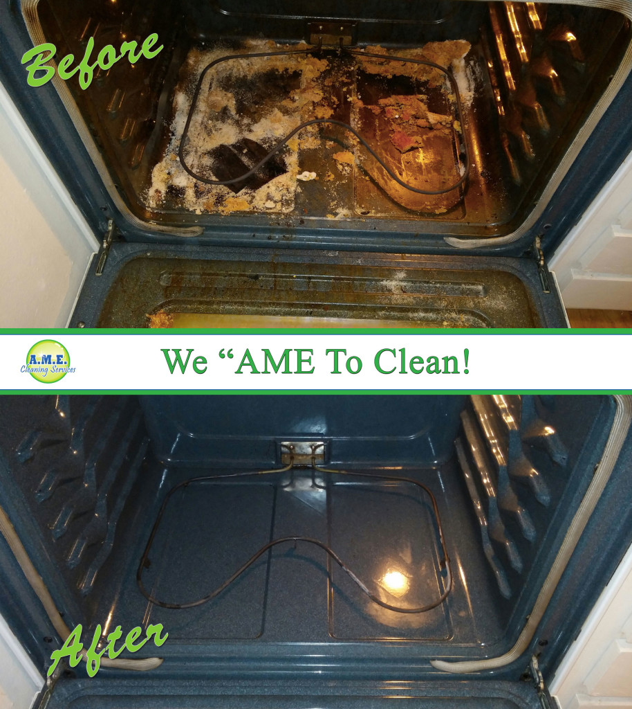 Oven Cleaning Before & After Pictures