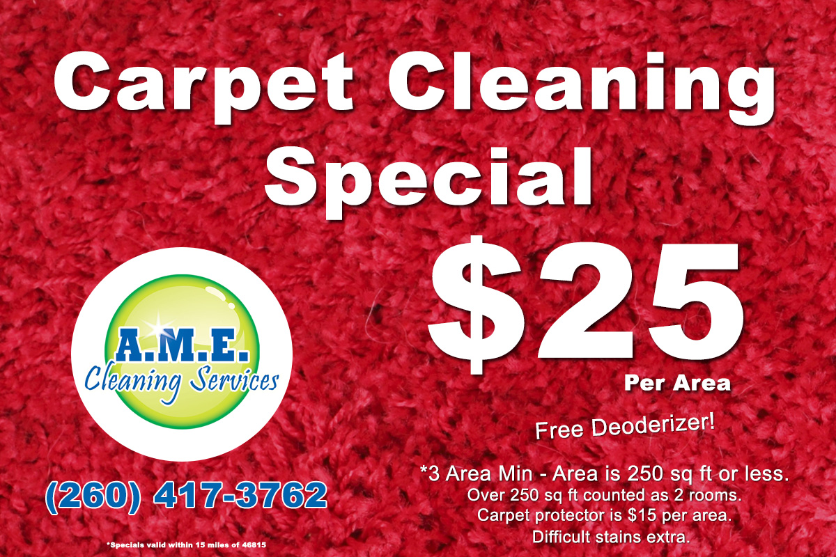 Fort Wayne Carpet Cleaning Special A M E Cleaning Services